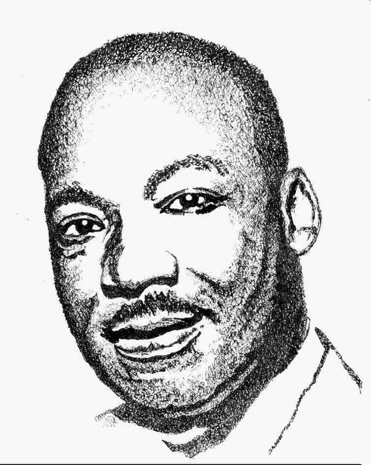 Martin Luther King Jr. Essence Portrait by Judy Rey Wasserman