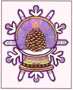 Snow Globe Snowflake, Isaiah 60:1-2, Colored by Judy Rey Wasserman