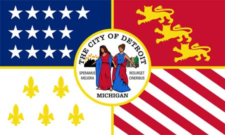 City of Detroit, Michigan Flag