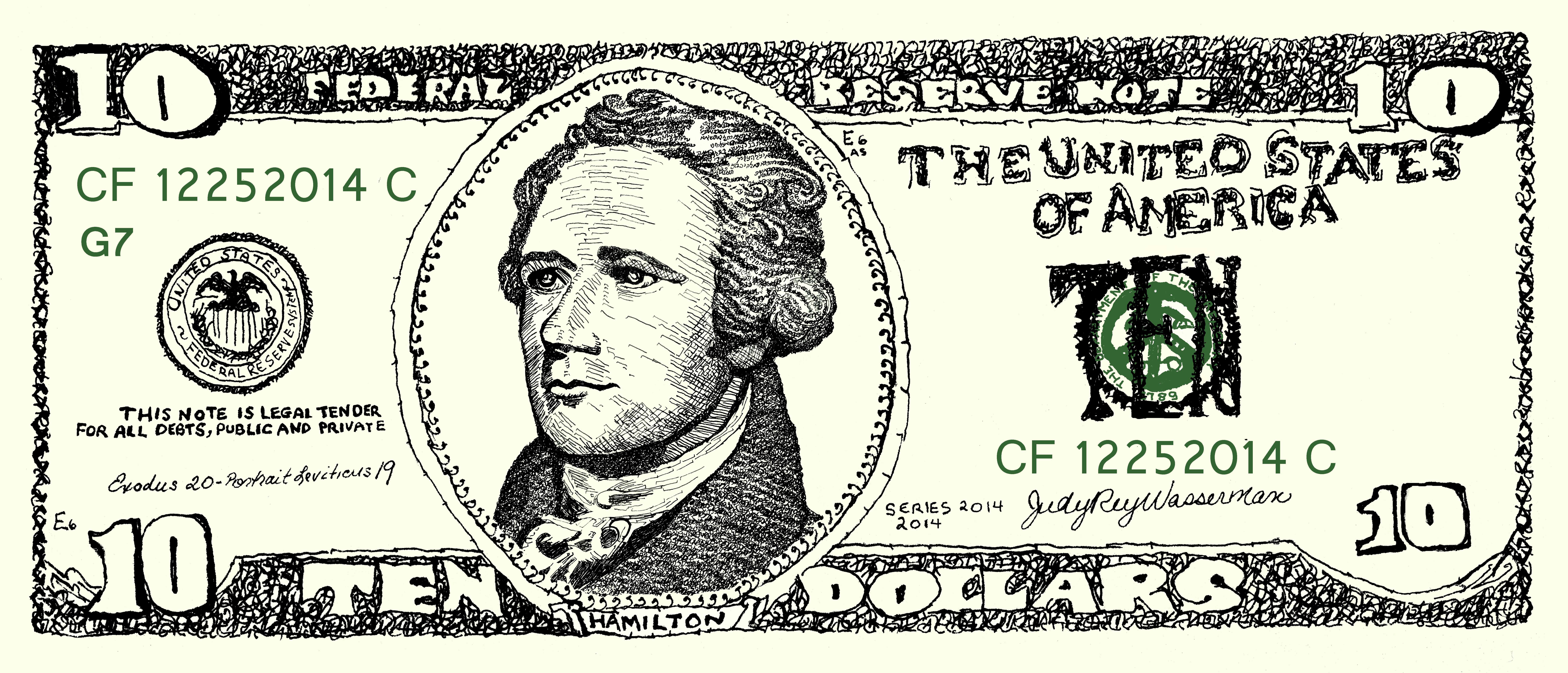 Money Project $10 Bill as Crowdfunding Perk