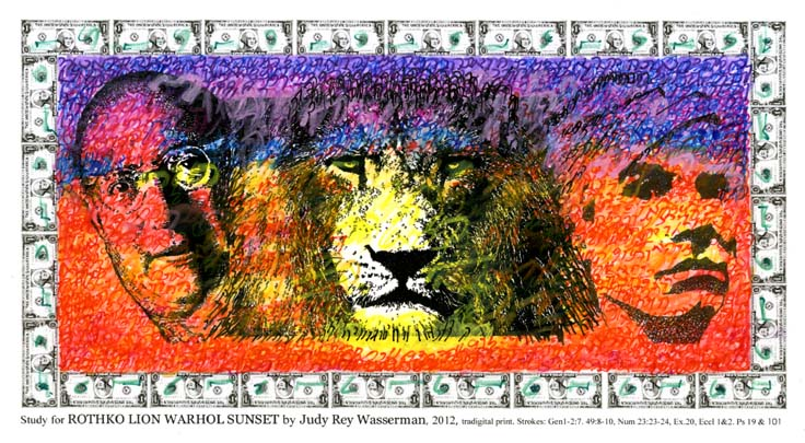 ROTHKO LION WARHOL SUNSET by Judy Rey Wasserman
