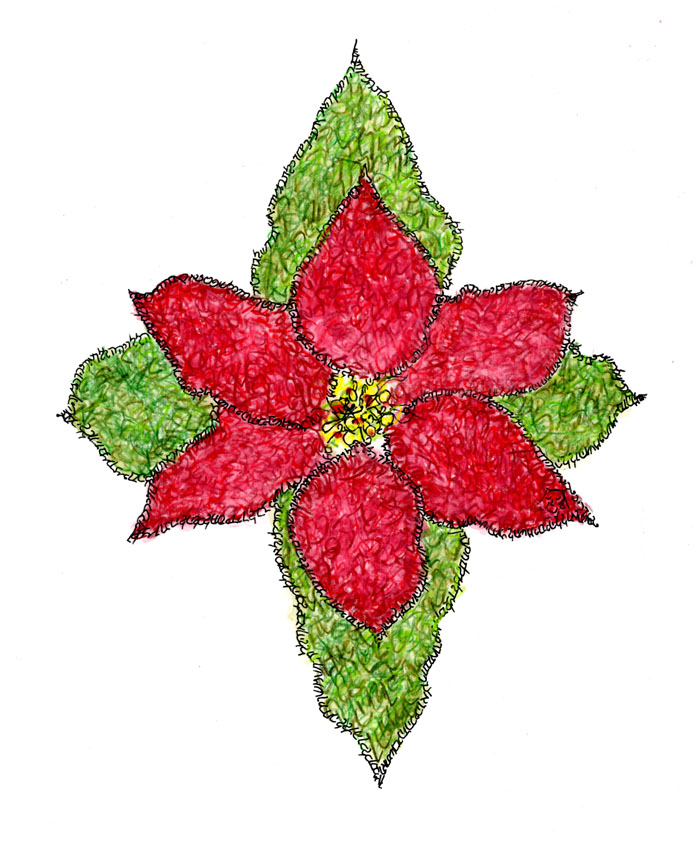 Poinsettia created with Psalm 148