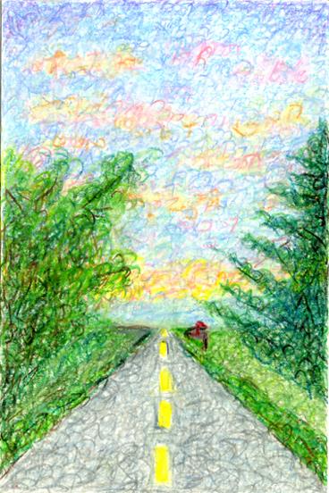 Sebonac Road Genesis Summer Sunset by Judy Rey Wasserman