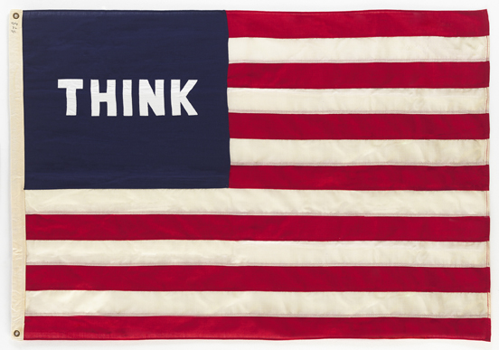 Think (Flag) 1972 by William N. Copley