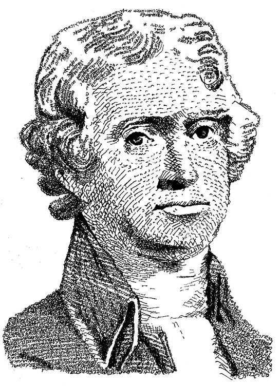 Thomas Jefferson — Essence Portrait