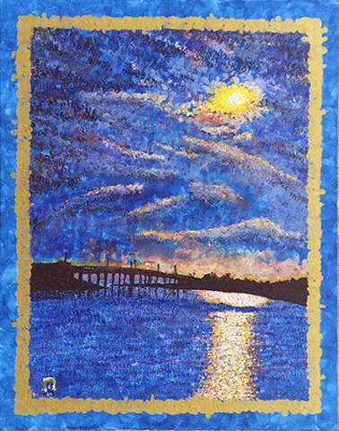 Sag Harbor Brdge Genesis Sunset by Judy Rey Wasserman