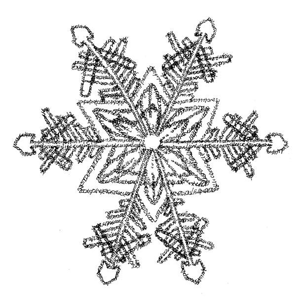 Snowflake --Isaiah 55 by Judy Rey Wasserman