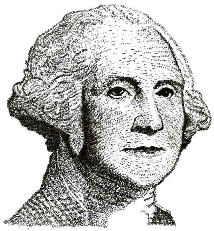 Exodus 20 (Ten Commandments) George Washington by Judy Rey Wasserman